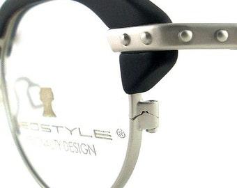 Vintage Club Glasses Eyeglasses Sunglasses New Frame Eyewear Silver Studs Black