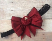 Sale Holiday couture headband , Baby girl headband , child headband , couture headband