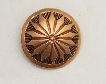 """1"""" Copper Hand Stamped Button"""