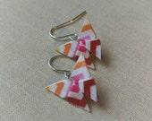 Origami Butterfly Earrings // Warm Colors