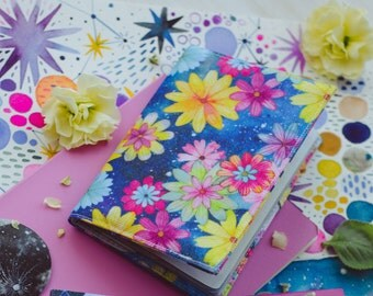 Spacey Floral Passport Cover