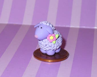 Lillian a Miniature Purple Lamb
