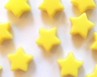 DISCONTINUED Yellow Star Pony Beads, 7x12mm, 1000 beads