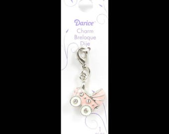 Mix and Mingle Baby Buggy Charm with Lobster Clasp