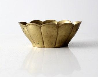 vintage brass bowl, lotus bowl dish