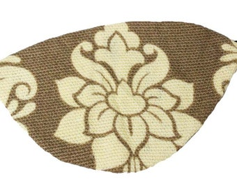 Tan Eye Patch Floral Victorian Steampunk Pirate Fantasy Fashion Ivory Beige