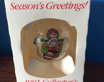 Campbell kids Christmas Ornament 1991 Collector Edition, Campbell kids Collector ornament 1991 in original box