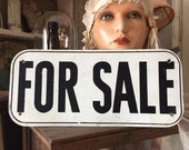 Let Them Know Its For Sale Vintage Worn Industrial Metal Sign