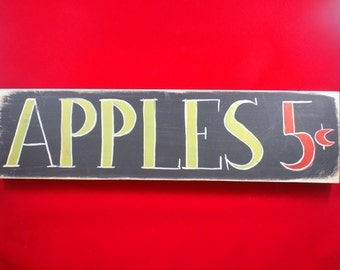 clearance priced - Apple Theme Wall Hanging