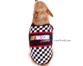 Custom Dog Shirt, Nascar Dog Harness, Personalized Car Dog Clothes Racing, Crocheted Large Dog Clothes by Myknitt - Free Shipping