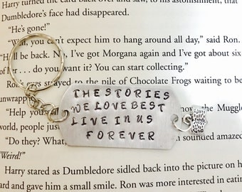 Harry Potter JK ROWLING Stories Quote Keychain