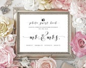 Printable Photo Sign Our Guest Book Sign, Chalkboard Wedding Sign, Guestbook, Wedding Printable, (2) JPEG Files, You Print, You Frame
