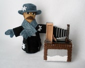 Custom Finger Puppet for K - Snowflake Bentley Historical Figure Puppet