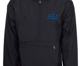 Alpha Xi Delta Unlined Anorak (Black)