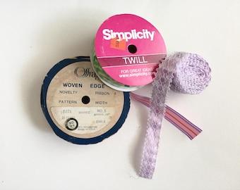 Ribbon and Lace Trim Bundle, Stripe and Twill Ribbon