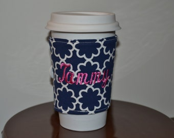 Personalized Coffee Cozy (Navy)