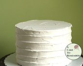 """6"""" round fake cake with ridged icing for photo shoots and home staging. Faux cake wedding cake cupcake display, food prop. Engagement prop."""