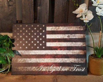 """14 x 20 Inch """" In GOD we Trust"""" canvas art"""