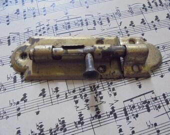 Vintage brass latch salvaged hardware