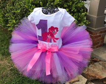 "Multi Colored Tutus, ""Emma Lou"" tutu features lavender, hotpink and purple, 1st birthday tutus, birthday tutu, cake smash tutus, full tutus"