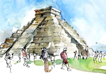Chichen Itza, Mexico - archival fine art print