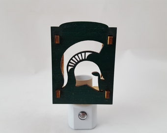 MSU Nightlight - Spartan Helmet
