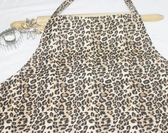 Plus Size Cheetah Apron