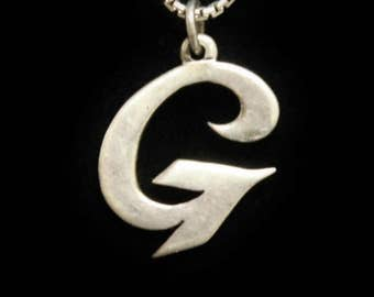 "James Avery Large Script Initial Sterling Silver ""G"" Initial"