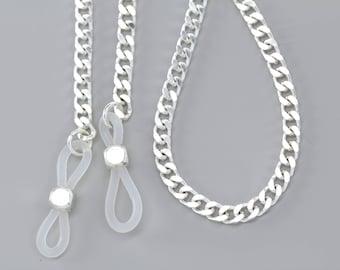 Modern Chic Silver Eyeglass Chain-Lanyard-Silver Eyeglass Necklace-Glasses Chain-Reading Glasses Chain-Designer Eyewear, Accessories Gifts