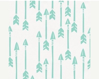 Spooktacular SALE 10% OFF FIVE Colors //Design Your Own Bedding- Grey, Mint, Pink, Navy, Coral  || Brave Arrows on White Background || Bumpe