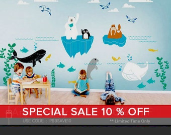 Alaska Wild Underwater World Wall Decal - Kids and Nursery Wall Decor