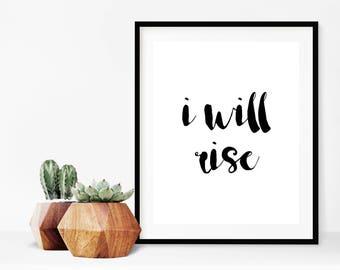Bible Verse Wall Art,I Will Rise,Micah 7:8,Bible Verse Print,Inspirational Wall Art,Encouraging Quote,Christian Wall Art,Bible Verse Print