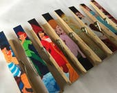 Fish Extender Gift - Peter Pan Clothespin Magnets - Set of 8 - Disney Cruise Stateroom Door Decor or FE Gifts - Door Magnets - Mickey Mouse