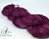 Hand Dyed Superwash Merino/Nylon - Fingering Weight yarn - You Had Me at Merlot