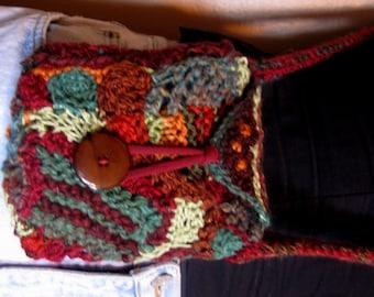 Crossbody small bag - Freeform crochet