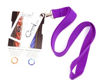 LANYARD ONLY -  Purple lanyard for the Eszee Twist tool control card for spinners.