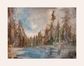 Watercolor landscape original painting