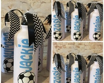 Personalized Soccer Water Bottles - Team Favors - Team Gifts - Soccer Team - Soccer Ball - Sports Team - Soccer Party