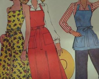 APRON WRAP DRESS Pattern • McCall's Sample • Miss 6-20 • Butcher Apron • Apron Dress • Sewing Patterns • Vintage Patterns • WhiletheCatNaps