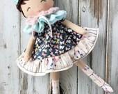 Felicity ~ SpunCandy Classic Doll, Heirloom Quality Doll, Modern Rag Doll, Nursery Decor, Kids Decor, Fabric Doll, Cloth Doll, Handmade Doll