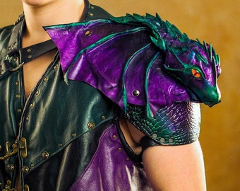 Dragon Pauldron - Sculpted Wearable Art Piece