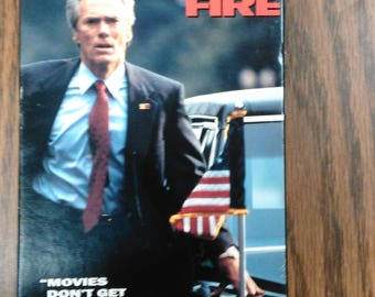 In The Line of Fire VHS MOVIE