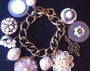 Repurposed Vintage Charm Bracelet