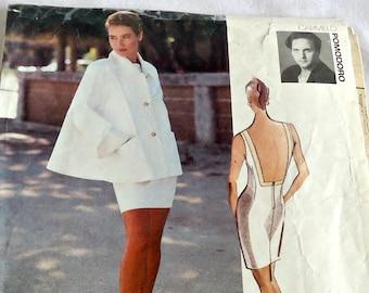 Vogue 2668 Sewing Pattern Misses' Jacket and Dress Vogue Attitudes Designer Carmelo Pomodoro Size 6 8 10