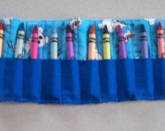 Crayon roll, crayon tote, crayon caddy, crayons not included, colorful, crayons, crayon carrier