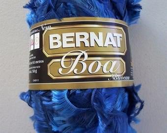 Yarn, Bernat Boa, bulky weight, Blue Bird, hand wash, dry flat, 1.75 oz. / 50 g.