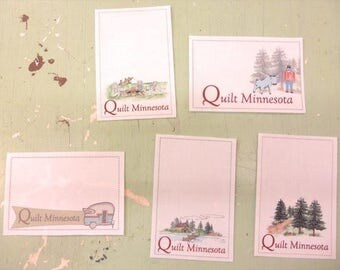 Quilt Minnesota Label...exclusive to Quilt Minnesota Shops...designed by Labels with Charm