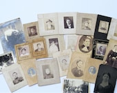 Vintage Photos, Antique Photos of People, Portraits, Woman with Squirrel, Antique Tintype, 24 Old Photos