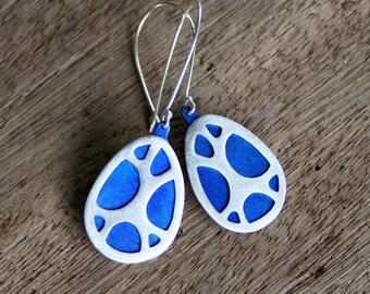 Organic Pattern Earrings, Lightweight Elegant Everyday Earrings