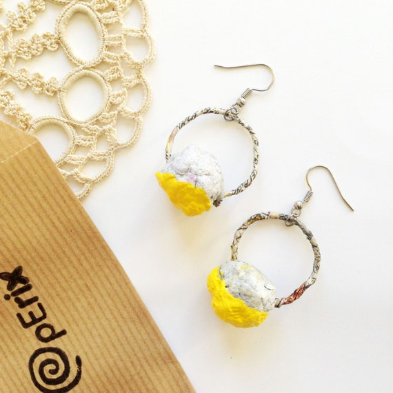 Items similar to paper earrings jewelry st